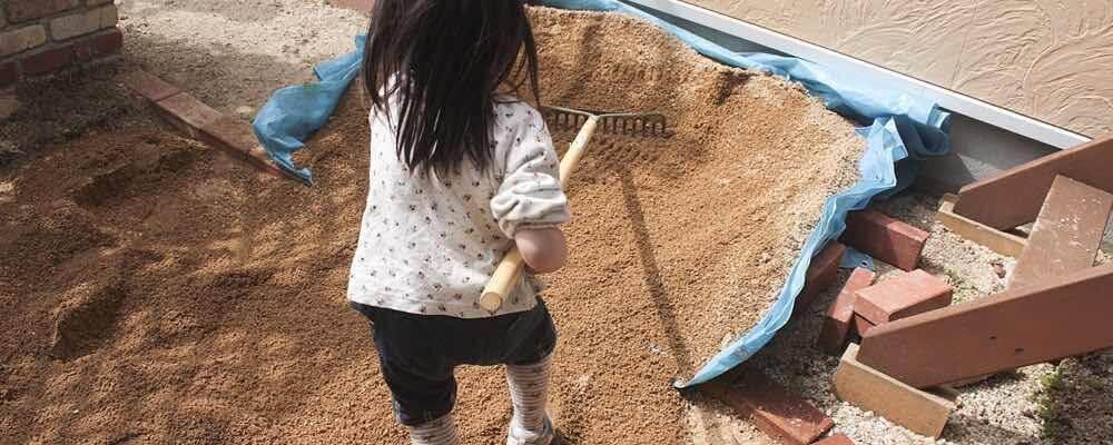 芝生の床土つくり